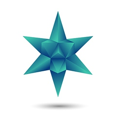 green geometric star vector image vector image
