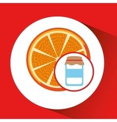 jar cute blue with jam orange jam graphic vector image