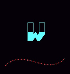 letter W-01 vector image vector image