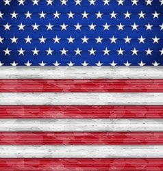 Wooden American Flag for Independence Day vector image vector image