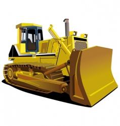yellow dozer vector image vector image