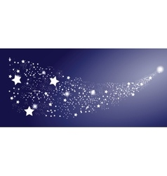 Comet Star on White Background vector image