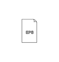 eps file icon vector image