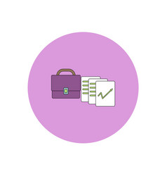 In flat design of briefcase vector