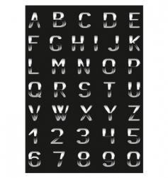 abc metal vector image vector image