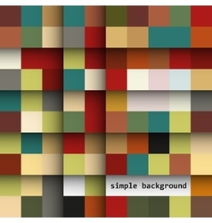 abstract colored squares on a light background vector image