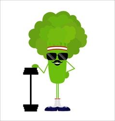 Broccoli athlete heavyweight vector image