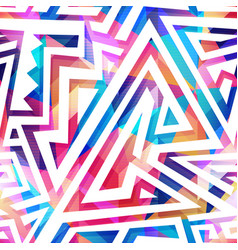 colored maze seamless pattern vector image vector image