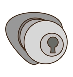 door handle security isolated icon vector image