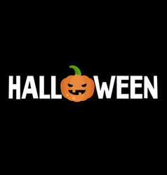halloween conceptual sign jack olantern scary vector image