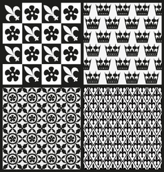 Set of medieval patterns vector image
