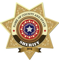 Sheriff badges vector image vector image