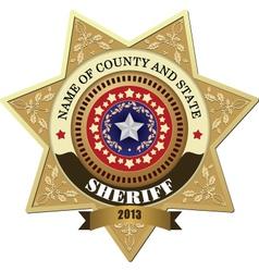 Sheriff badges vector image