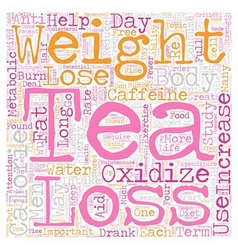 Tea s Potential For Weight Loss text background vector image vector image