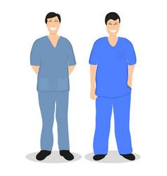two doctors men flat design vector image vector image