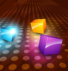 3d boxes vector image