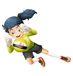 A female football player from Brunei vector