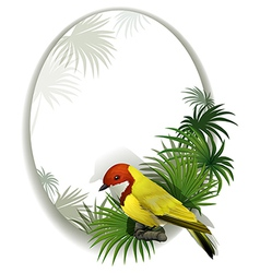 A round template with a bird vector image
