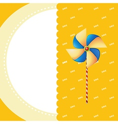 A stationery with a windmill vector