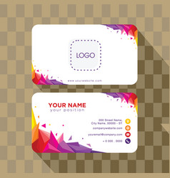 abstract geometry business card template vector image