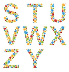 Alphabets set letters stylized colorful bubbles vector