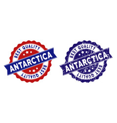antarctica best quality stamp with grunge effect vector image