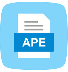 Ape file document icon vector