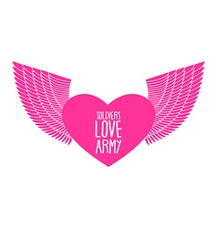 Army soldier of love Funny military logo emblem vector image
