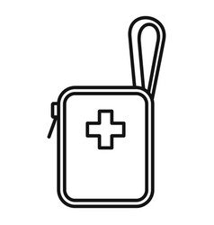 bike first aid kit icon outline style vector image