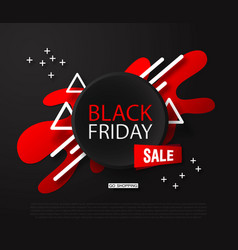 black friday sale backgroundabstract composition vector image