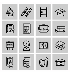 Black higher education icons vector