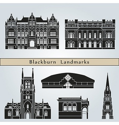 Blackburn landmarks and monuments vector image