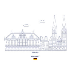 bremen city skyline vector image