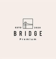 Bridge hipster vintage logo icon vector