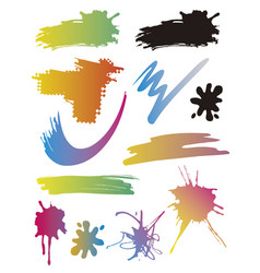 brush strokes spots splatters vector image