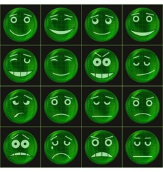 Bubbles smileys green vector image vector image