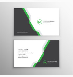 Business card template with abstract shapes vector