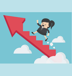 businesswoman finance success marketing business vector image