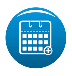 Calendar deadline icon blue vector