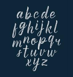 Chalk texture handwritten latin modern calligraphy vector