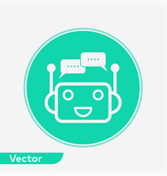 chat bot icon sign symbol vector image
