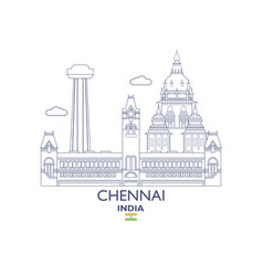 chennai city skyline vector image