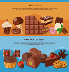 chocolate flat banners vector image