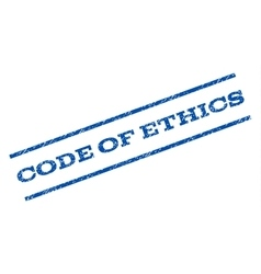 Code Of Ethics Watermark Stamp vector