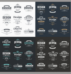 collection vintage logos and symbols vector image