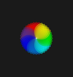 color wheel monochromatic color wheel isolated vector image