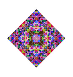 Colorful isolated ornate geometrical mosaic vector