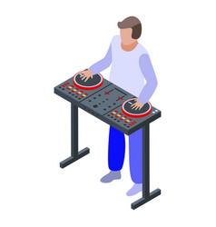 Concert dj icon isometric style vector