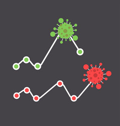 Coronavirus cell pandemic disease statistics vector