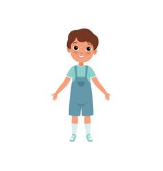 Cute preschooler boy stage of growing up concept vector